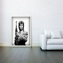 David Bowie, Mosaic, Decorative Arts, Prints & Posters, Wall Art Print, Poster Any Size - Black and White Poster